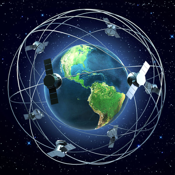 Satellites around world med