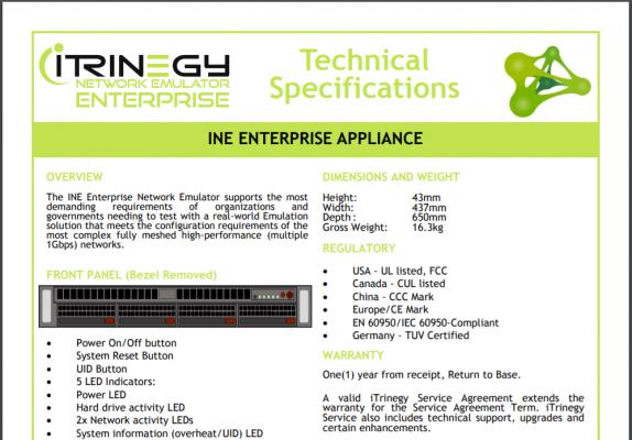 INE Ent Tech Specs