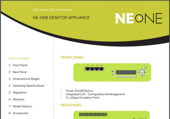 NE1 Desktop Tech Specs