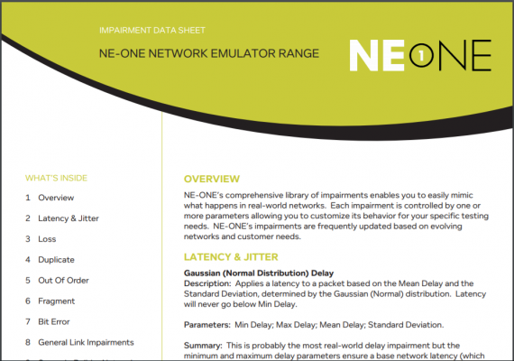 NE1 Impairments