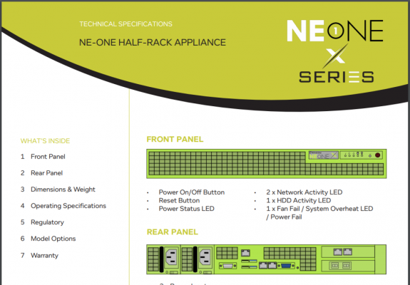 NE1 X Tech Specs