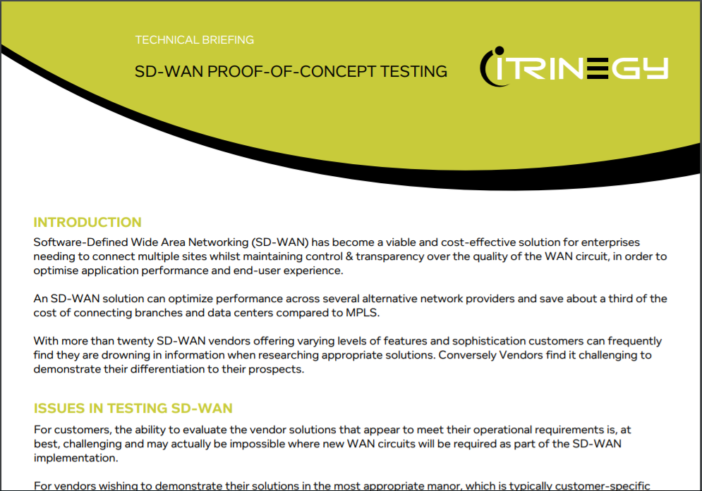 SD WAN Testing